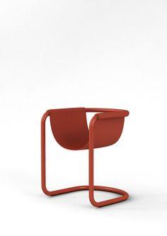 Shin Ji-Hun; Enameled Steel 'Pipe Chair', 2014.