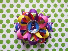 Harmony bear Carebear hair bow available for little por bellecaps