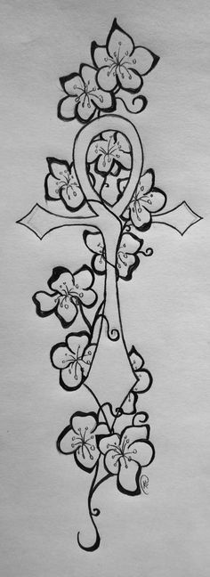 Ankh Cherry tattoo Two by Shinobi-For-Life on deviantART