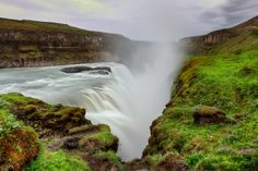 One of Iceland's most spectacular sights, Gullfoss Waterfall in full flight.