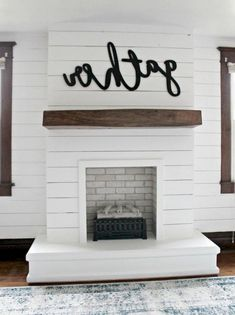 7 Fabulous Tips: Fake Fireplace Diy fireplace living room billy bookcases.Fireplace With Tv Projects cozy fireplace photo galleries. Fireplace Redo, Fake Fireplace, Shiplap Fireplace, Farmhouse Fireplace, Fireplace Remodel, Fireplace Design, Fireplace Mantels, Farmhouse Desk, Industrial Farmhouse