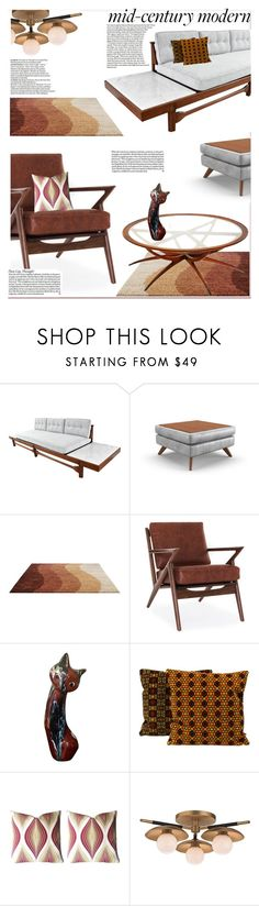 """""""Clean Spaces: Mid-Century Modern"""" by slavicabojanovic ❤ liked on Polyvore featuring interior, interiors, interior design, home, home decor, interior decorating, Joybird, MCM, Robert Allen and DuÅ¡an"""
