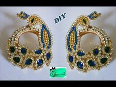 Peacock chandbali earrings making with silk thread   jewellery tutorials - YouTube
