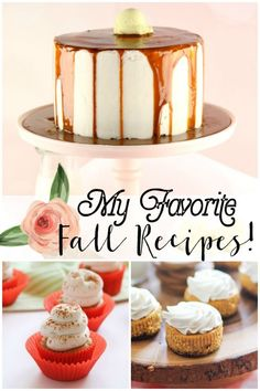 Great list of Fall Recipes! French Toast Layer Cake, Mini Pumpkin Cheesecake, Apple Pie Custard Bars..so many to try!