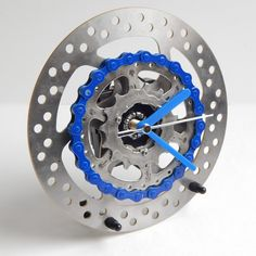 Recycled bike/ bicycle large desk clock by ReCycle & BiCycle