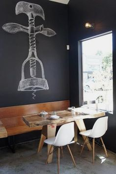 This Chalkboard Corkscrew Would Look Great on a Wine Cellar/Tasting Room Wall