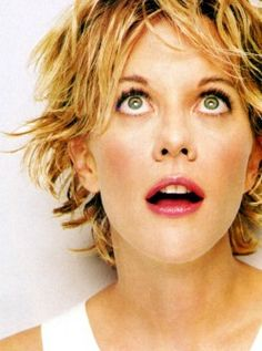 "Meg Ryan in ""French Kiss"" - her best ""Kate"" role. Simply Hairstyles, Meg Ryan Hairstyles, Shaggy Bob Hairstyles, Bob Haircuts, Peinados Meg Ryan, Meg Rayan, Meg Ryan Short Hair, Cut My Hair, Hair Cuts"