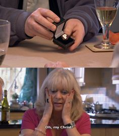 "When she was presented with this: 31 Times Pam From ""Gavin And Stacey Was Genuinely Hilarious British Sitcoms, British Memes, Ruth Jones, Gavin And Stacey, Tv Memes, Comedy Tv, Tv Quotes, Gilmore Girls, Dance Moms"