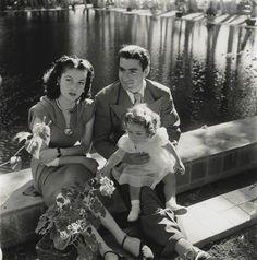 Malek HIH Princess Shahnaz of Iran (*1940) with parents Princess Fawzia Fuad of Egypt and Sha Mohammad Reza Pahlavi in 1941
