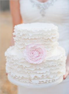 Ruffled cake with flowers Cake ruffled wedding cake white ruffle cake with flowers Gorgeous Cakes, Pretty Cakes, Amazing Cakes, Cupcakes, Cupcake Cakes, Wedding Cake Inspiration, Wedding Ideas, Wedding Trends, Wedding Blog