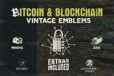 Bitcoin & Blockchain Vintage Emblems by JeksonJS on Envato Elements Bitcoin Mining Software, What Is Bitcoin Mining, Business Brochure, Business Card Logo, Does It Work, Script Type, Best Logo Design, Creative Sketches, Paint Markers