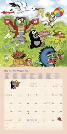 5 - Der kleine Maulwurf Kalender 2014 Partys, Mole, Calendar, Cartoons, Embroidery, Cat, Retro, Children, Spring