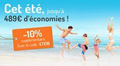 Locations de vacances et bons plans Madame Vacances pour cet été  avec le code ETE10 http://www.madamevacances.com/location-vacances-ete.html