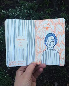 Sketching and thinking in contrasting colours! Love this little layout.  #WilliamHannahUK #journaling #artjournaling #sketchbook #thoughts #colours #dailyjournal #leatherjournal  www.williamhannah.com