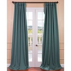@Overstock.com - Jadite Bellino Blackout Curtain Panel - Improving on the usual blackout curtain, The Bellino Collection fabric has a soft, yard dyed texture and comes as pole pocket with back tabs and hookbelt. These teal curtains keep the light out and provides optimal thermal insulation.  http://www.overstock.com/Home-Garden/Jadite-Bellino-Blackout-Curtain-Panel/8316779/product.html?CID=214117 $57.99
