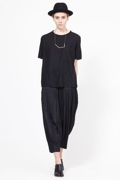 Pleats Please by Issey Miyake Pleated Pants (Black)