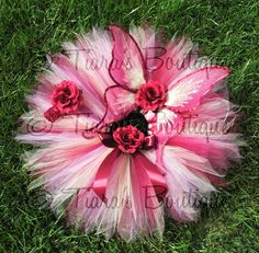 Infant Tutu & Fairy Wings Set  Autumn Butterfly by TiarasTutus, $79.00