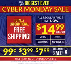dee25ed6d4a646 Our BIGGEST EVER Cyber Monday Sale is going on RIGHT NOW at BonWorth.com!  Don't miss out! SHOP: BonWorth.com