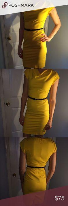 Classique entier yellow dress