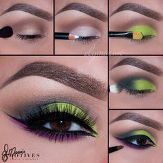 New eyeshadow makeup tutorial for Urban Decay. The perfect eye make-up . - Make-Up Makeup Hacks, Makeup Inspo, Makeup Inspiration, Makeup Tips, Makeup Ideas, Makeup Brands, Eye Makeup Steps, Makeup Eye Looks, Makeup For Green Eyes
