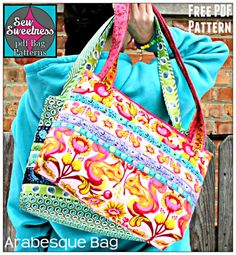 The Arabesque Bag – Free PDF Sewing Pattern + Fusible Interfacing How-To | PatternPile.com