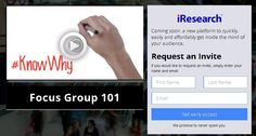 Online Focus Group platform to quickly, easily and affordably conduct focus groups on-demand. Know Why and gain insights. http://www.iresearch.com