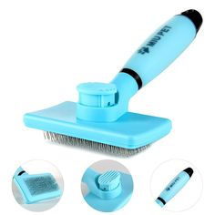 Pet Self-Cleaning Grooming Dematting ToolandSlicker Brush - for Dogs and Cats, Effectively Remove Loose Undercoat Hair, Mats and Tangles Wet Or Dry-By MIU PET >>> To view further, visit now : Dog Grooming