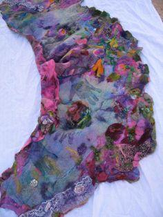 heavy nuno felted cape garden godess. $295.00, via Etsy.
