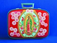 Virgin Mary Suitcase.    The recovering catholic in me <3 's this.
