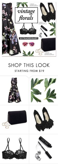 """""""Extraordinary Vintage Florals"""" by ladydzsen ❤ liked on Polyvore featuring Ted Baker, Miss Selfridge, La Perla, Bobbi Brown Cosmetics, vintage and vintageflorals"""