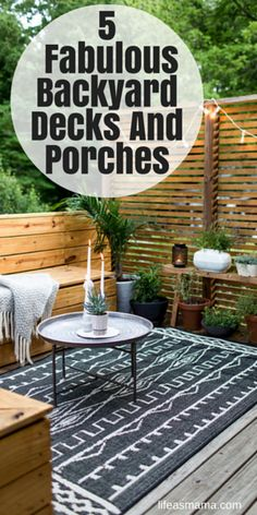 Not everyone has the space for an outdoor deck, but these 5 fabulous ones should definitely give you inspiration for renovating yours if you do have the space.