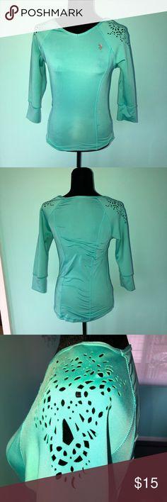 Women's U.S. Polo Top Women's Top  U.S. Polo Size Small  90% Polyester  10% Spandex  Light green Good condition! U.S. Polo Assn. Tops Tees - Long Sleeve