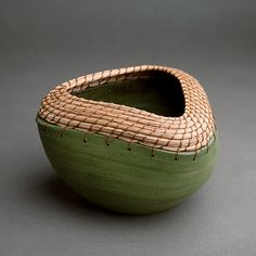 Triangle Bowl in Green