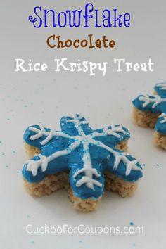 Snowflake rice krispy treat