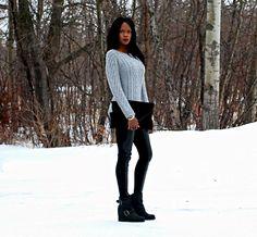 Chunky knits over on stylemydreams.wordpress.com #winter #chunkyknits #sweaterweather #fashion #fashionblogger #style #leatherleggings