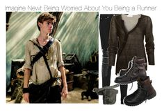 """""""Imagine Newt Being Worried About You Being a Runner"""" by fandomimagineshere ❤ liked on Polyvore featuring Yves Saint Laurent, A.L.C. and American Eagle Outfitters"""