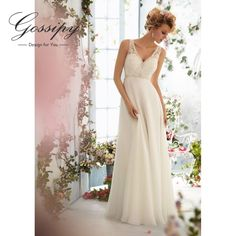Find More Wedding Dresses Information about Simple Backless A Line Cheap Beach Wedding Dress 2016 Chiffon Bridal Sequin Beaded Lace Wedding Gown Under 100 Bride Dress X6,High Quality dress floor,China dress up wedding dresses Suppliers, Cheap dress moon from Eternal-Moment on Aliexpress.com