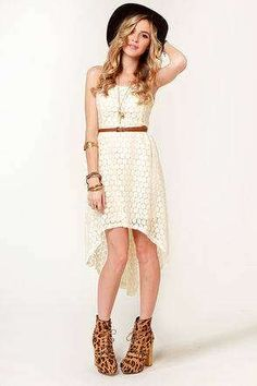 white high low dres