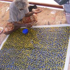 Aboriginal Art Painting by Gloria Petyarre Bush Medicine Leaves Aboriginal Painting, Aboriginal Artists, Pattern Art, Abstract Pattern, Repetition Art, Gloria Petyarre, Naidoc Week, Aboriginal Culture, Simple Canvas Paintings