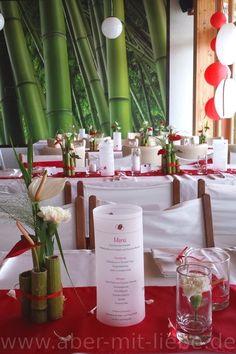 ... , Hochzeitsdeko rot und weiß www.aber-mit-liebe.de/leistungen.php