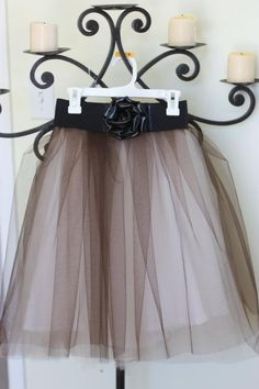 Pinning this DIY Tulle Skirt Tutorial, because I can imagine Sister Beane or Beanee Baby liking one of these.. Tulle isn't the fat girl's friend.. It really IS a GREAT tutorial.