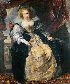 Peter Paul Rubens - Portrait of Helena Fourmen in a wedding dress gg Alte Pinakothek, Munich Peter Paul Rubens, Rembrandt, Pedro Pablo Rubens, Rubens Paintings, Portrait Paintings, Baroque Art, Art Database, Oil Painting Reproductions, Great Artists
