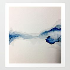 Abstract Blue Watercolor Art Print by sophie.lemieux - X-Small Watercolor Print, My Arts, Tapestry, Art Prints, Abstract, Blue, Painting Art, Home Decor, Products