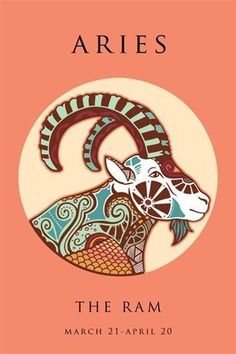 ARIES ASTROLOGY ART POSTER 24X36 the ram colorful symbolic classic original Brand New. 24x36 inches. Will ship in a tube. - Multiple item purchases are combined the next day and get a discount for dom