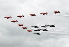 RAF Red Arrows & USAF Thunderbirds
