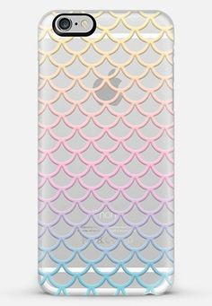 Pastel Mermaid Scales Transparent iPhone 6 Plus Case by Organic Saturation   Casetify #finfun #mermaids #mermaidtail www.finfunmermaid.com