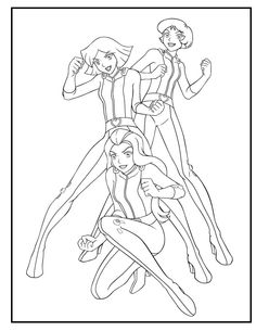Totally Spies Clover Playing Roller coloring picture for kids ...