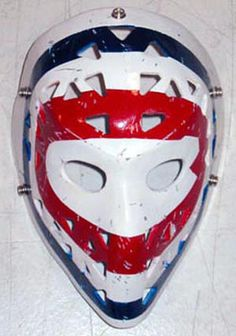 Ken Dryden after the plasticine mask & before adding the cage Montreal Canadiens, Ken Dryden, Goalie Mask, Hockey Goalie, Nhl, Old School, Masks, Plasticine, Masked Man