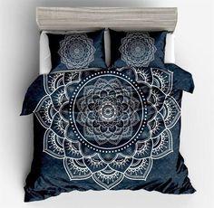 Bohemian Duvet Cover 3-Piece Soft Microfiber Bedding Set with Pillowcase