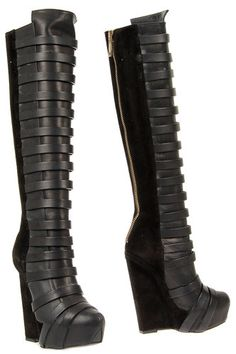Gareth Pugh New Leather Boots Shoes Women Suede Size 35 5 ITA Made Italy | eBay